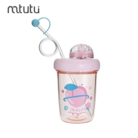 China Healthy Kids 0.39L Plastic Water Bottle With Straw factory