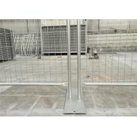 Buy cheap Temp Wire Fence Panels 1.8m*2.5m panel mesh 60mm*150mm diameter 3.0mm AS/NZS4687-2007  HDG 84 microns /600 gram/sqm zinc from Wholesalers