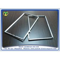 Buy cheap One Time Bending Forming machined aluminum TV Frame Profiles Silver Anodizing from Wholesalers