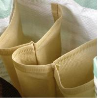China PP coated color printing Green shopping plastic woven bag DQ-WB1 factory