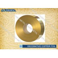 Buy cheap Brass Rolled Copper Foil For Decorative Industry , copper sheet for crafts from Wholesalers