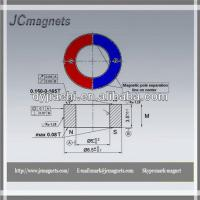 China Size:D8.5Xd5X3.5-Ceramic magnet/Ferrite ring magnet for water meter factory