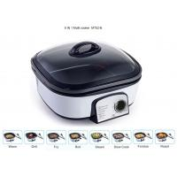 China Glass Cover Electric Multi Cooker 8 IN 1 Copper Wire PP Shell Base Lightweight factory