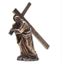 China Religion Large metal Jesus cross bronze sculpture,customized bronze statues, China sculpture supplier factory