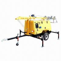 China Mobile Light Tower with Water-cooled Perkins, Kubota and Stamford, Leroy Somer and More on sale