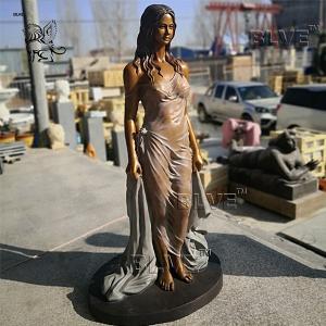 China Life Size Bronze Sexy Naked Woman Sculpture Brass metal garden Art factory