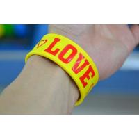 Buy cheap wholesale silicone slap bracelet  , bright color  silicone bracelets wristband from Wholesalers
