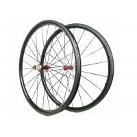Buy cheap 30MM*25MM Carbon Road Wheels  Dimple Brake Surface 700C Tubuless / Clincher from Wholesalers