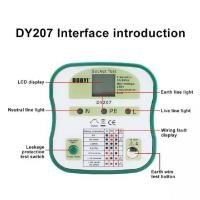 China DUOYI DY207 Digital Display Socket Tester Switch Safety Detector Circuit Tester Wall Plug Breaker Finder RCD Test Electr on sale