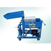 Buy cheap Dewatering Used Oil Plate Filter Press / Press Filtering Unit / Oil Cleaning Machine from Wholesalers
