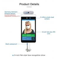 China 15W 8 Inch Face Recognition Infrared Human Body Thermometer factory