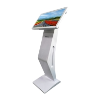 """China 450 Nits 21.5"""" Floor Stand Touch Screen Kiosk With 58mm Ticket Printer factory"""