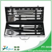 Buy cheap Stainless steel bbq grill tool set with aluminum box 13 pcs s/s BBQ set pack in Alu case from Wholesalers
