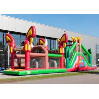China Reliably Blow Up Obstacle Course 17.0 X 3.6 X 4.7 M Fourfold Stitching factory