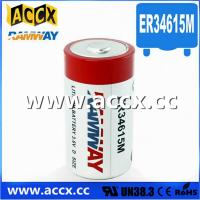 China D size ER34615M 3.6V 14.5Ah lithium Thionyl chloride battery factory