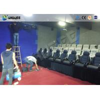 China Game 7D Cinema System With Numerous Effects Set Up In Store Front , Walking Streets factory