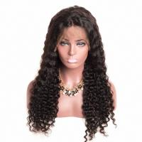 China Lace Front Wig Deep Wave Lace Frontal Wig Brazilian Remy Human Hair Wig factory