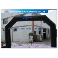 China Black Custom Inflatable Arch For Advertisement /  PVC Blow Up Arch factory
