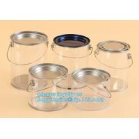 China aluminum tin aluminum container jar with clear window top aluminum cans with screw lid for cosmetic/food bagplastics pac factory