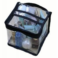 Buy cheap Multi Functional Cosmetic Storage Organizer Bags Square Shaped With Clear PVC Vinyl Material from Wholesalers
