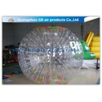 China Funny Transparent Inflatable Bumper Ball , Inflatable Grass Zorb Ball For Adults factory
