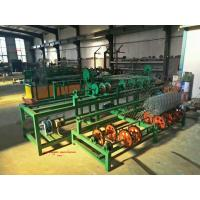 China China High Speed 2m -4m width Full Automatic double wire feeding Chain Link Fence Machine for sale factory