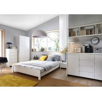 Buy cheap Modern High Glossy White Bedroom Furniture Sets , 5 Drawer Chest from Wholesalers