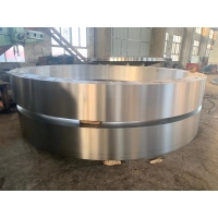 China Rotary Kiln Spare Parts 42CrMo Cement Rotary Kiln Tyre Large Diameter Casting Steel factory