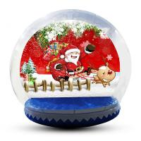China Large Inflatable Snow Globe For Outdoor Christmas Decoration EN14960 factory
