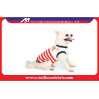 China Lovely Girl / Boy Dog Clothes Sailor T-shirt with Navy Stripe , Pet Accessories factory