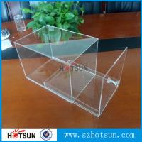 China factory custom clear acrylic shoe boxes/perspex shoe box/display shoe box factory