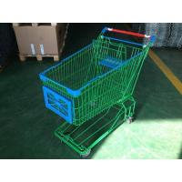 Buy cheap 150L Asian Supermaket Wire Shopping Trolley With Swivel Casters from Wholesalers
