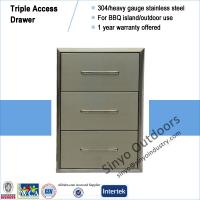 Buy cheap Kitchen island accessory stainless 304 flush mount triple access drawer from Wholesalers