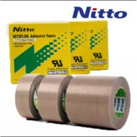 China Nitto 973UL High Temperature PTFE PTFE Fiberglass Tape with Silicone Adhesive on sale