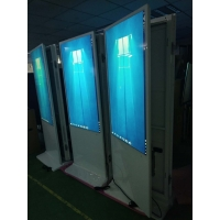 China 55 Inch Floor Standing Double Side LCD Screen Digital Totem Dual Display Digital Signage Media Player factory