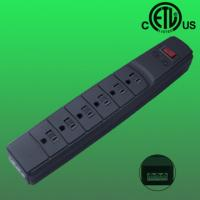 China 6 outlet US RJ 11,telephone/ fax line surge protector , ETL listed factory
