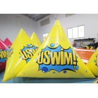 China Triangle 2.5m Inflatable Marker Buoy Hot Air Welding UV Resistant factory