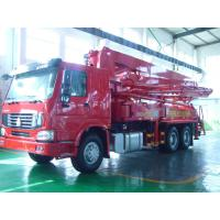 China 125M3 / H 21m Concrete Pump Truck With With Big Bearing Capacity And Small Swing on sale