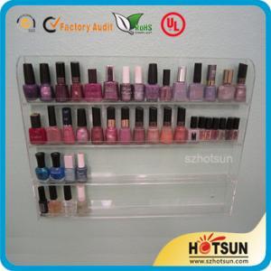 China Clear Acrylic Nail Polish Wall Display Rack, custiomized tier nail polish rack factory