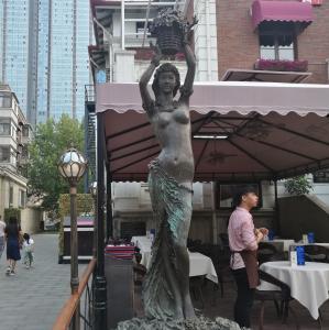 China Outdoor garden beautiful grace girl bronze sculpture ,customized bronze statues, China sculpture supplier factory