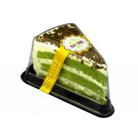 China Eco Friendly Baking cake transparent PET triangle box with fork for sandwich on sale