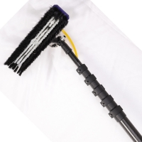 China 20m heavy duty extension telescopic carbon fiber window cleaning poles factory
