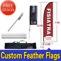 Teardrop / Feather Flags Banner With 2.3kg Cross Base + Water Bag