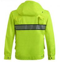 China Waterproof Outdoor Safety Work Clothes Reflective Raincoat for high speed road factory