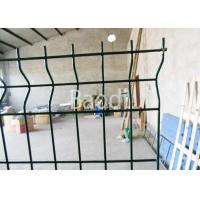China Public Building Pvc Coated Wire Fencing, Welded Steel Mesh Fence Panels With W Shape factory