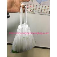 Buy cheap HDPE / LDPE Clear Drawstring Plastic Bags For Supermarket / Hospital from Wholesalers