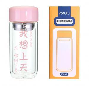 China Personalized High Borosilicate Glass Water Bottle Custom Logo factory