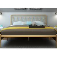Buy cheap Simple modern iron bed 1.5 m 1.8 m double bed 1.2 m single bed iron bed metal steel tube bed from Wholesalers