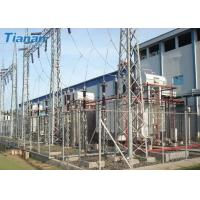 Buy cheap 3 Phase 110kV Industrial Oil Immersed Power Transformer With Corrugated Steel Plate Tank from Wholesalers