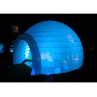 China Led Lighting Inflatable Igloo Tent , Oxford Cloth Inflatable Tents For Parties factory